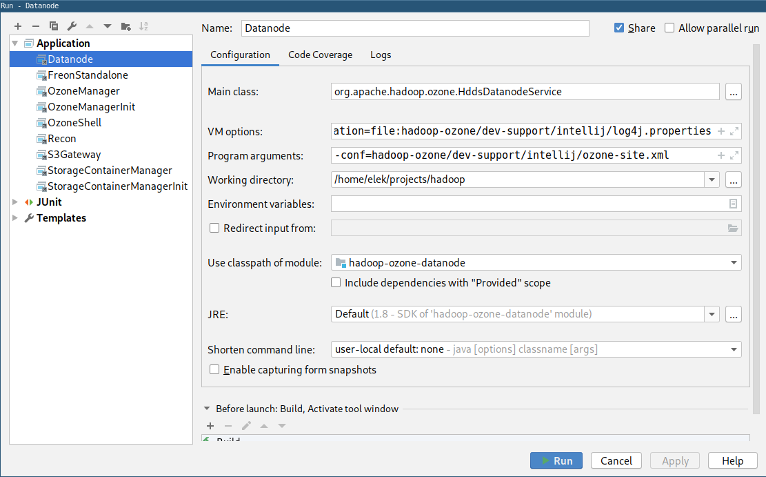 Run Ozone cluster from IDE - Hadoop - Apache Software Foundation