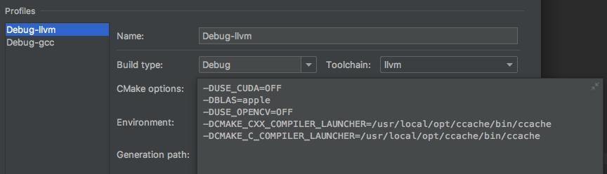 CLion setup for MXNet C++ development on Mac and Linux