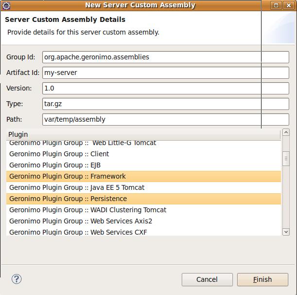 Apache Geronimo v3 0 Documentation: Assembling a server