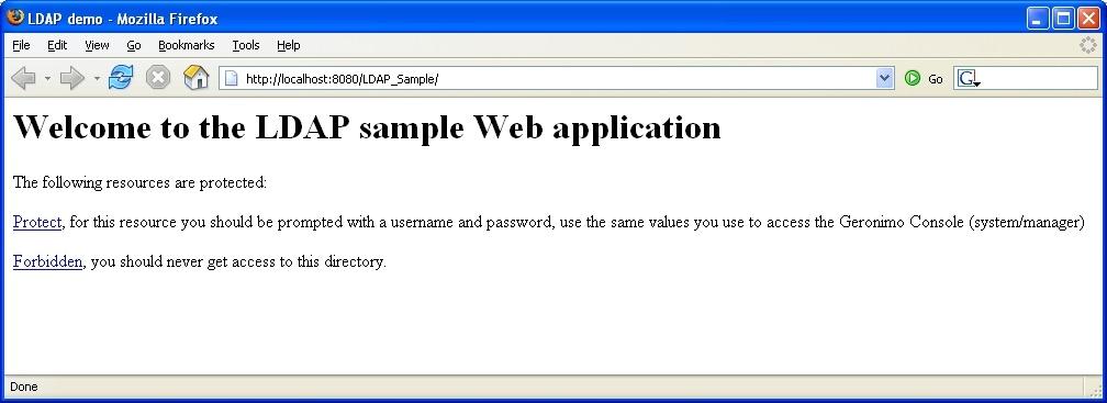 ldap-sample-app - LDAP Sample Application - Apache Geronimo