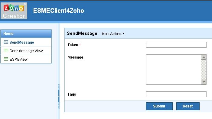 Zoho Creator - Apache ESME - Apache Software Foundation