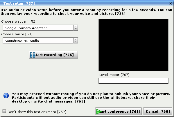 Audio-Video Recording Test Application - Apache OpenMeetings