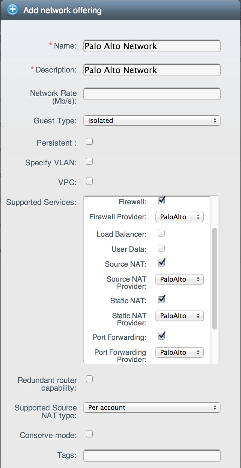 Palo Alto Firewall Integration - Apache Cloudstack - Apache Software