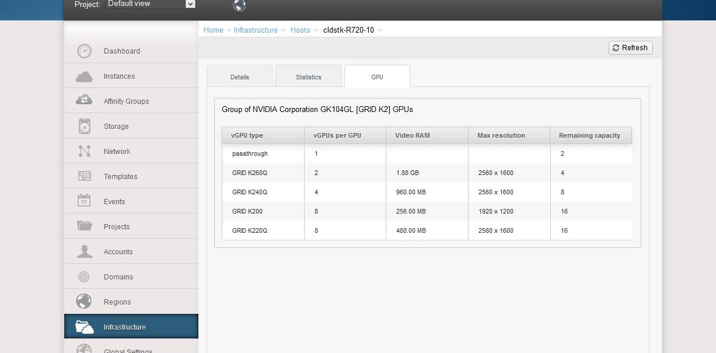 GPU/vGPU Support on VMware - Apache Cloudstack - Apache Software