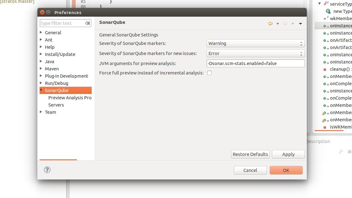 SonarQube Eclipse Plugin - Apache Stratos - Apache Software