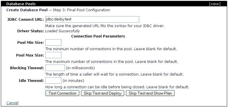 Administrative tasks apache geronimo v1 0 apache for Show parameter pool