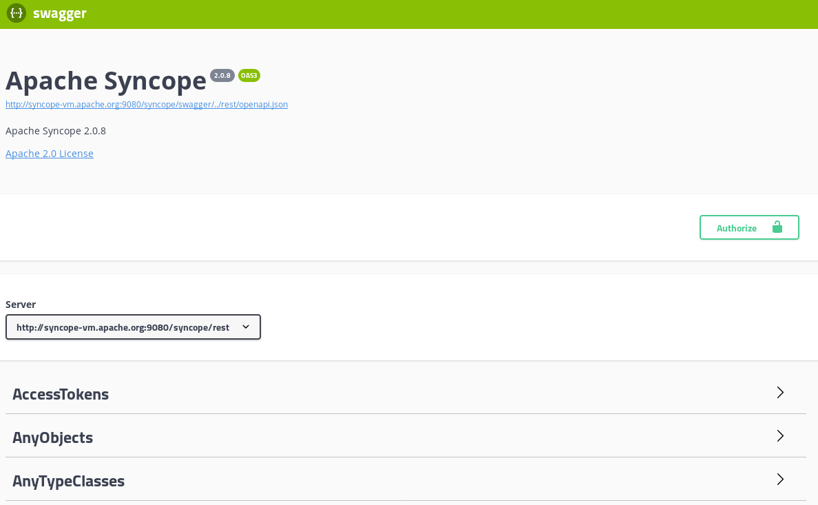 Jazz - Apache Syncope - Apache Software Foundation