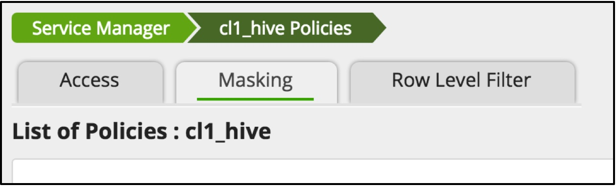 Row-level filtering and column-masking using Apache Ranger