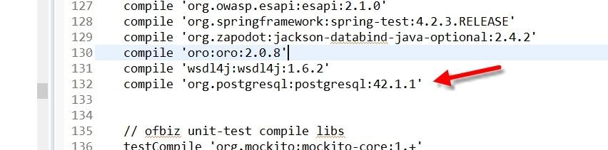 Setup OFBiz version 16 11 02 with PostgreSQL on Windows
