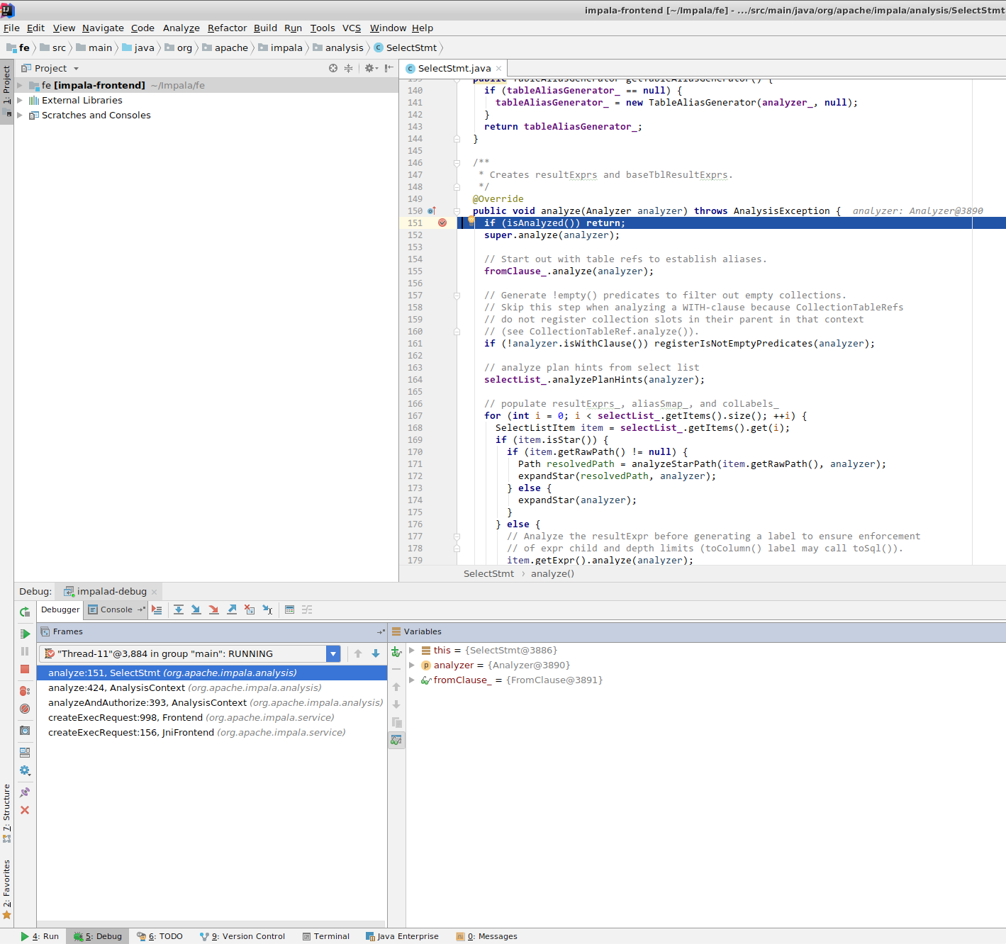 IntelliJ and CLion Setup for Impala Development - Impala