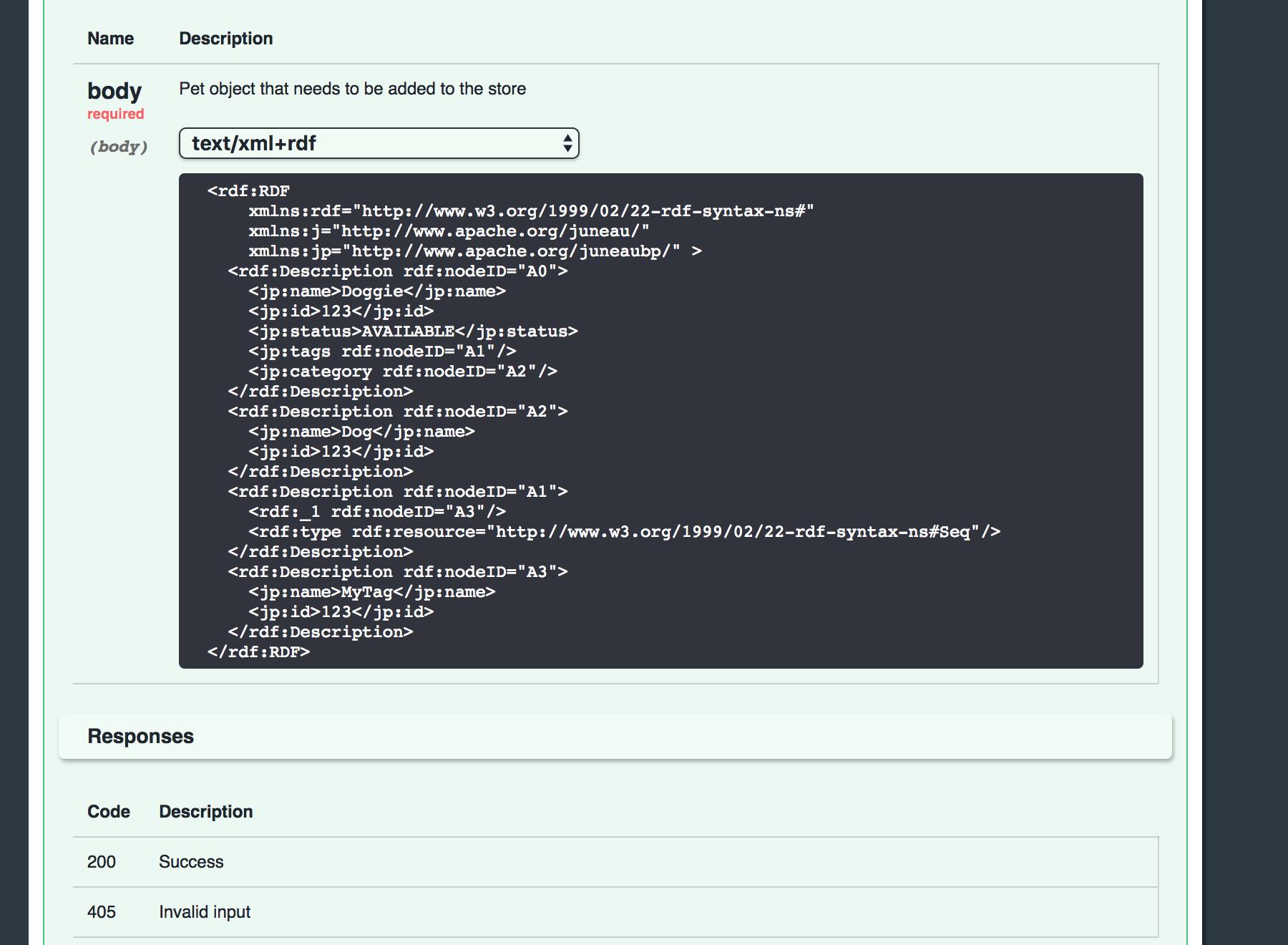 Swagger UI enhancements (update) - Juneau - Apache Software