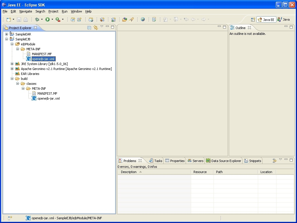 5 minute tutorial on enterprise application development with create ejb project baditri Images