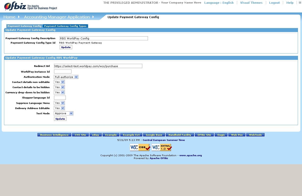 Apache OFBiz Business Setup Guide OFBiz EndUser Documentation - What is paypal invoice buy online pickup in store same day