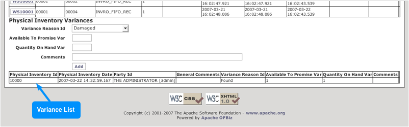 visual physical inventory adjustment ofbiz end user documentation