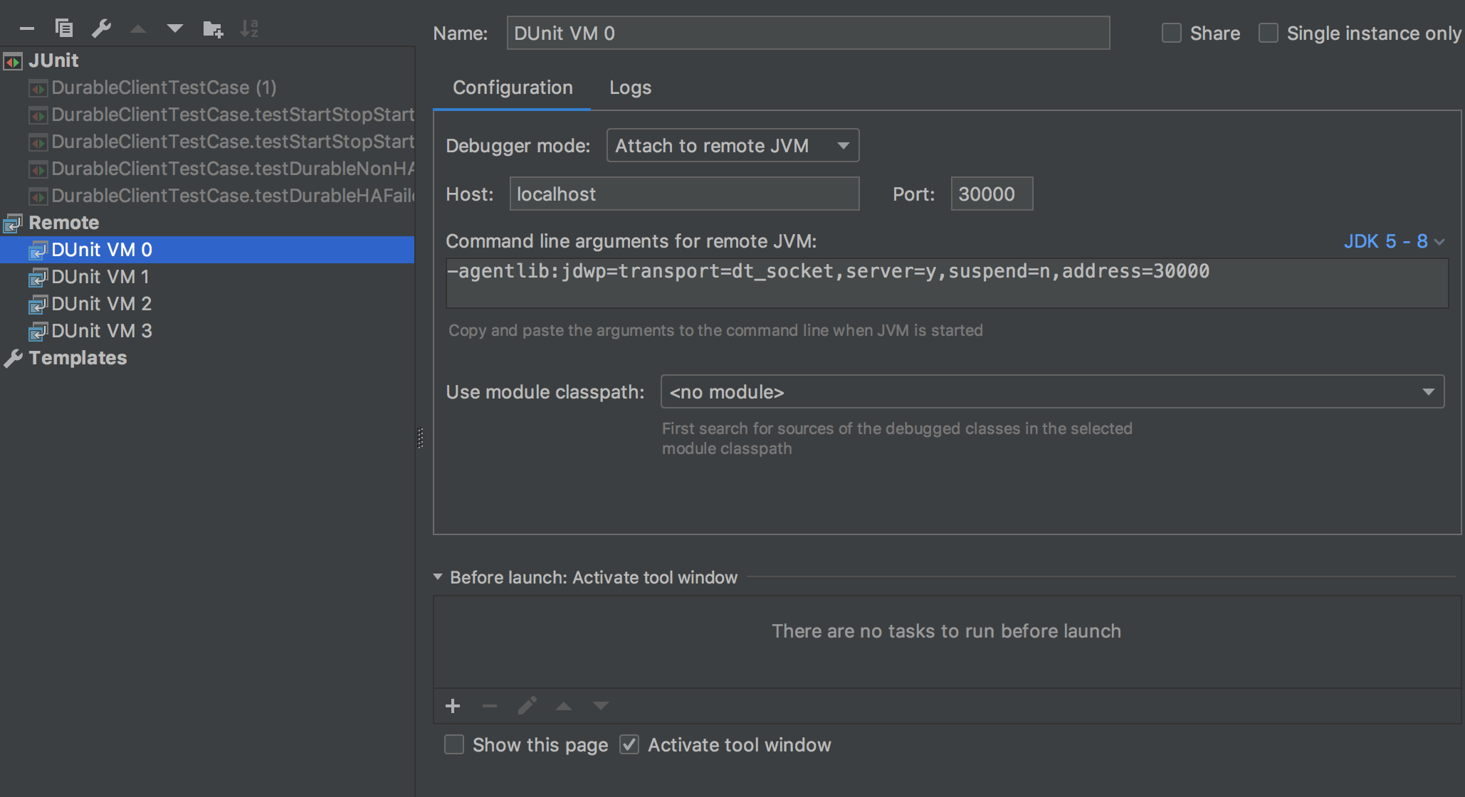 Debugging Multiple DUnit VMs with IntelliJ - Geode - Apache