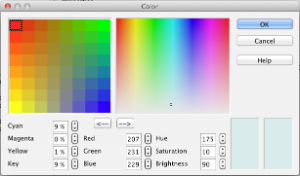 Apache OpenOffice 3.4 Color Picker