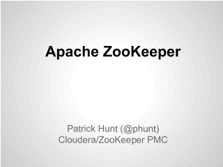 ZooKeeperPresentations - Apache ZooKeeper - Apache Software